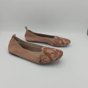 Latigo Embroidered Ballet Flats